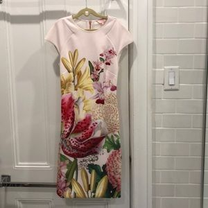 Ted Baker Floral Midi Dress